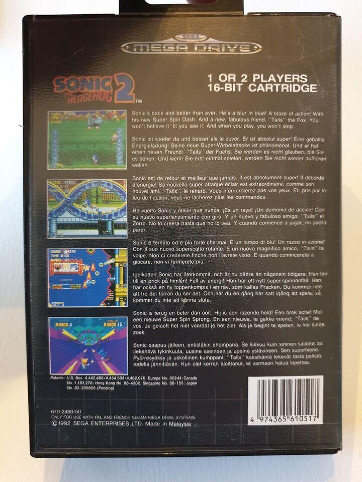 Sonic 2 The hedgehog, Sega mega drive