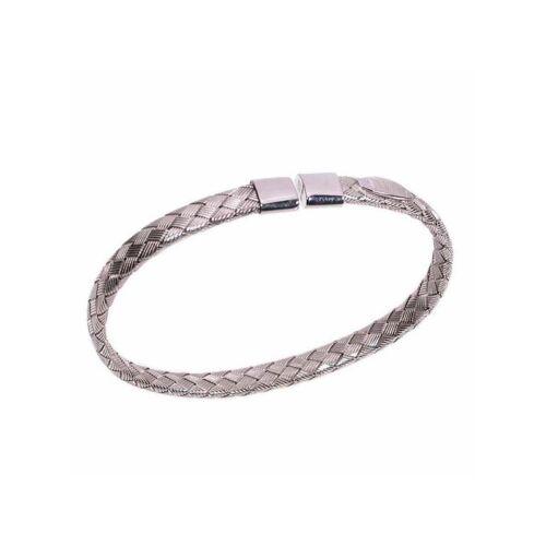 Bracciale in argento 925//1000 realizzato con lamine intrecciate tutto in argento