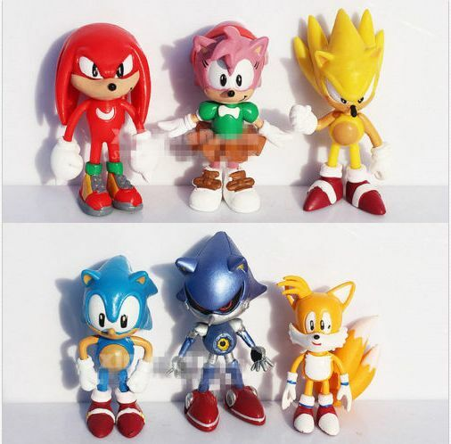 Sonic The HEDGEHOG Characters PVC 2.2  6pcs Figure Set