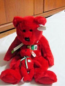 OSITO the Bear Original Beanie Buddy & Teenie Beanie Baby, One Lot Both NWT