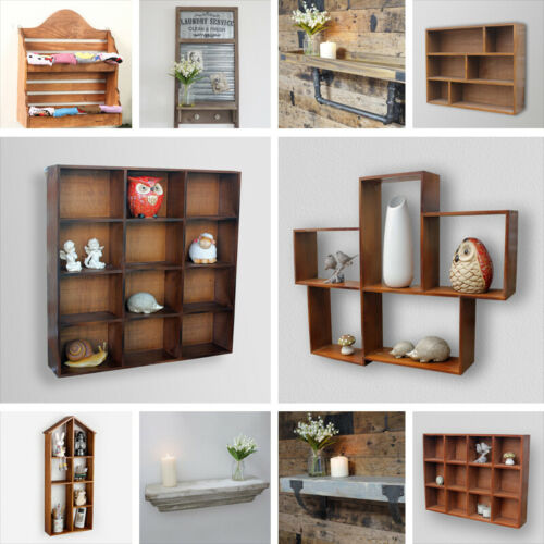 Wall Mounted Storage Cabinet Shelf Wood