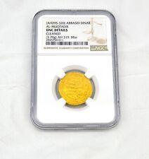 Islamic Gold Dinar AH 295-320 Abbasid AL-MUQTADIR NGC UNC AH 319 Misr 3.70g Rare