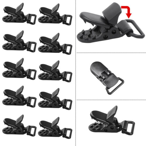 10pcs  Plastic Tarp Clips Awning Clamp Set Instant Clip Tent Accessories Camping