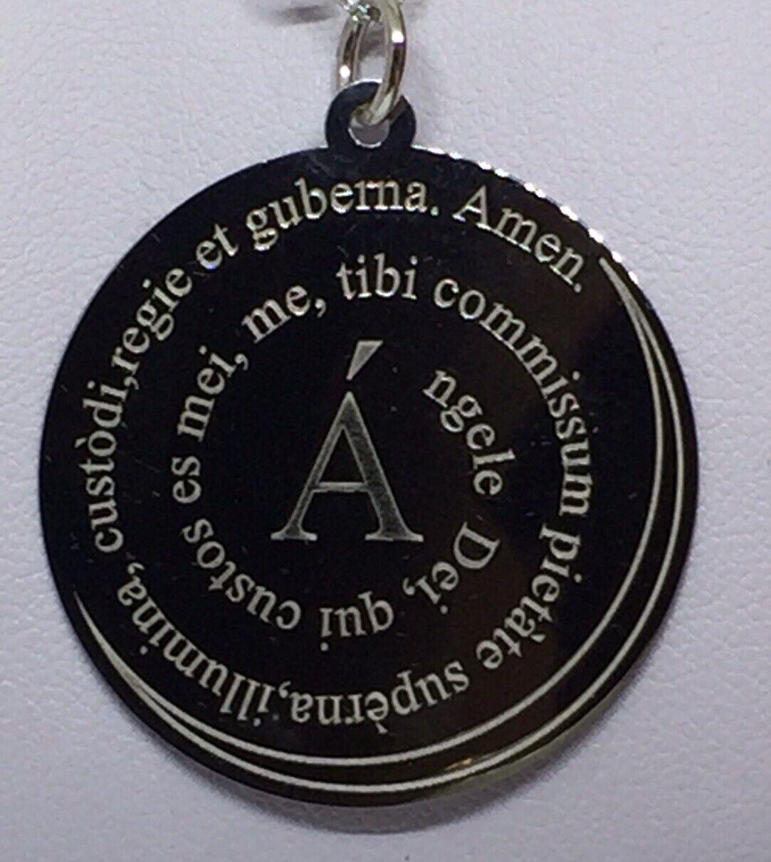 COLLANA silver 925  COLLANA women  COLLANA  CIONDOLO AMEN ANGELO DI DIO CM90
