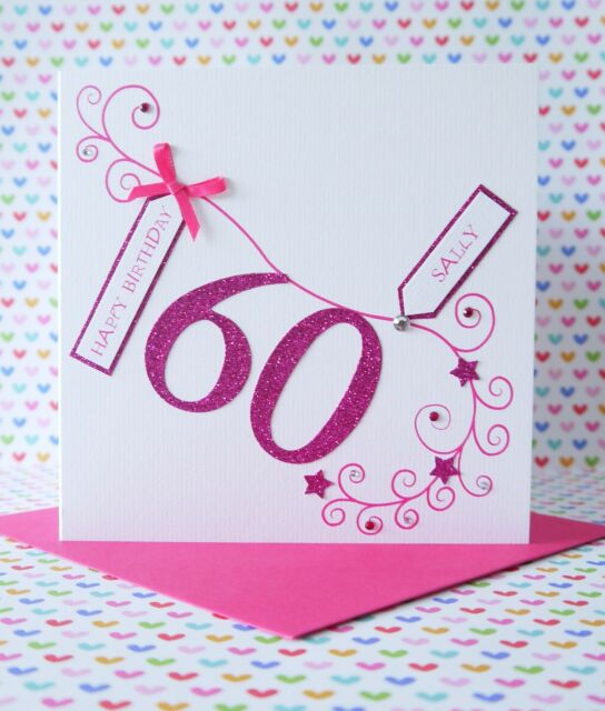 Personalised Handmade Birthday Card,30th,40th,50th,60th