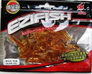 40 EzFish Trout Bass Scented Micro Shrimp Lures 4cm NEW