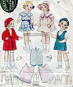 Vintage 1930 18 Antique Style Doll Clothes Pattern 6382