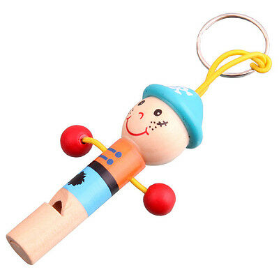Lovely Baby Kids Wooden Whistle Pirates Developmental Toy Children Musical Gift