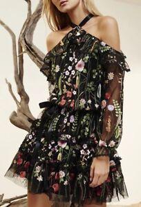 327cebbbe Vestido bordado floral Alexis Adeline! tamaño pequeño! Super Raro Y ...