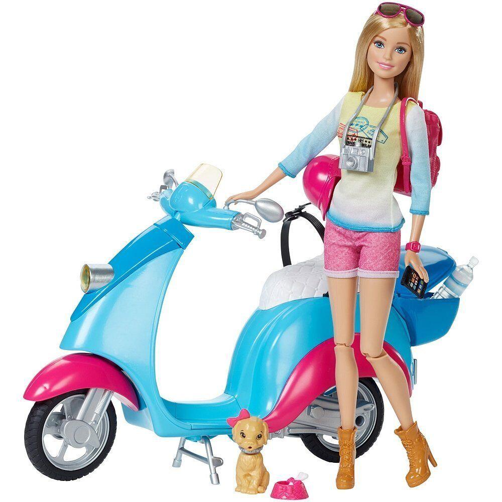 Barbie Puppe mit Roller und Accessoires