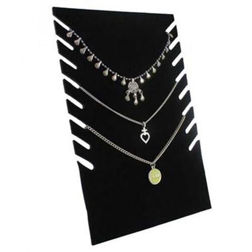 Porte bijoux presentoir collier plaque pour stand h 28 cm 8 colliers