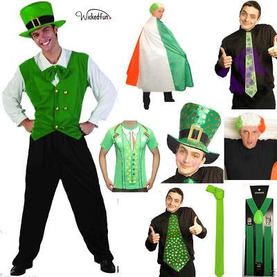 St Patrick's Day Lime Green Plain Braces 2.5 cm Accessories Fancy Irish Costume
