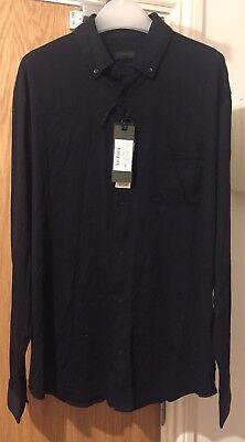 Intelligente Z Zegna Navy Blue Regular Fit Cotone Camicia Taglia Xxl £ 215-mostra Il Titolo Originale