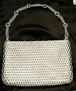 Paco Rabanne for Walborg Clutch Retro Aluminum Chainmail Purse Vintage 1950s EXC