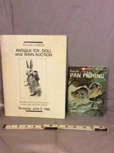Lot Of 2 Pan Fishing Antique Toy Doll And Train Auction Ebay