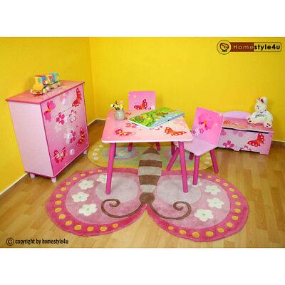 Kindersitzgruppe Kindertisch Kinderstuhl Kinder Möbel Schmetterling rosa