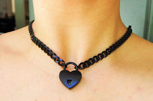 24/7 High Grade Black 316L STAINLESS LOCKING BDSM Bondage Slave Day Collar