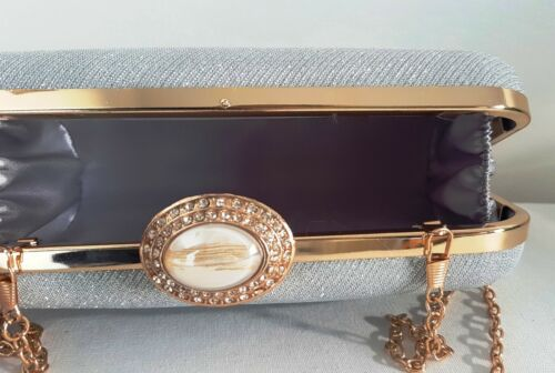 Clutch Silver Elegant Glitter Hand donna Pochette da Gold xHOUBZO