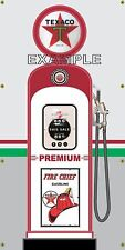 TEXACO PREMIUM ANTIQUE RETRO GAS PUMP GAS STATION BANNER GARAGE SIGN ART 3 X 6