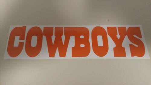 Window Toolbox Sticker #82 NFL Dallas Cowboys Stickers