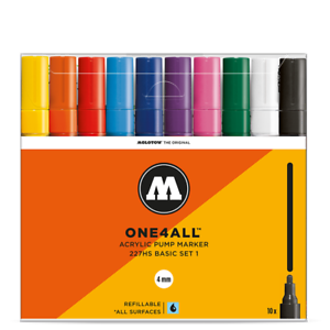 1-4mm Set No Molotow ONE4ALL 227HS Paint Markers Set Of 10 Acrylic Pens