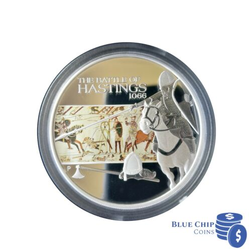 2009 $1 HASTINGS FAMOUS BATTLES IN HISTORY 1oz SILVER PROOF COIN