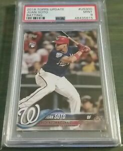 Juan-Soto-2018-Topps-Update-US300-Batting-Rookie-RC-PSA-9-MINT-AWESOME-CARD