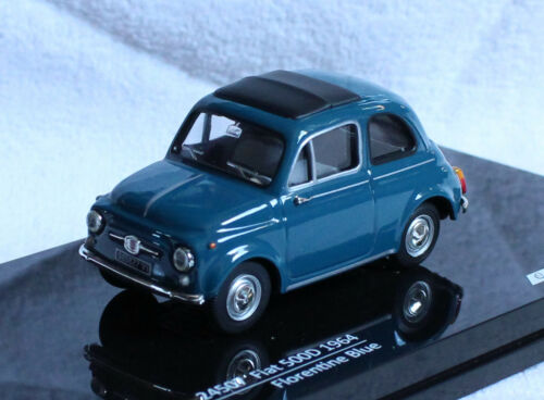 Fiat 500d azul 1964 1:43 vitesse maqueta de coche 24507