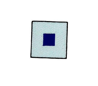 Flag patch embroidered international maritime nautical navy signal S Sierra