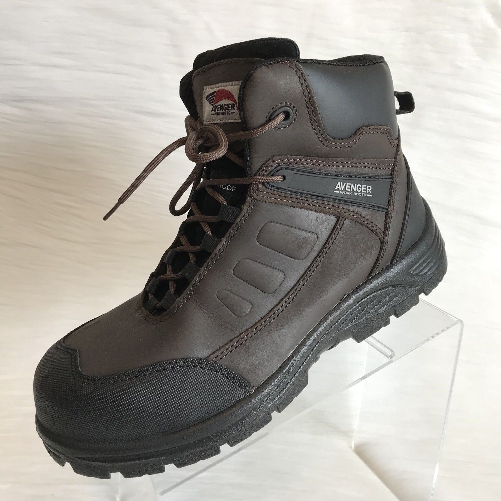 Avenger Men's Work Boots Brown leather A7296 size 12 M