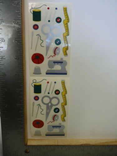 FRANCES MEYER SEW STITCH SCISSORS TAPE MEASURE PINS MACHINE STICKERS NEW A25107