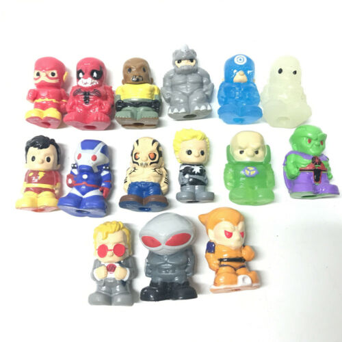 """15pcs 1.5/""""OOSHIES Pencil Topper Marvel RHINO Donald Duck Figure Collection Toys"""