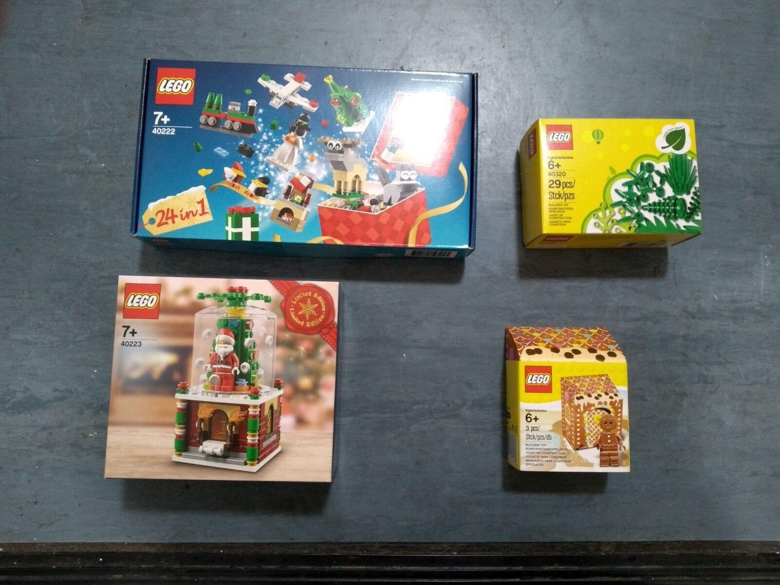 Christmas Lego 40222 40223 40320 5005156 6186041 countdown snowglobe snow globe