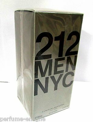 Carolina Herrera 212 6.7oz 200ml Men Eau de Toilette 100% Original & Sealed Box