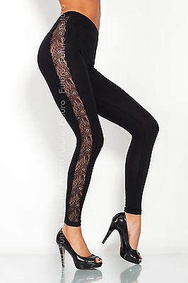 Black Cotton Leggings Full Length, Cropped 3/4, Lace Various Lengths and Types