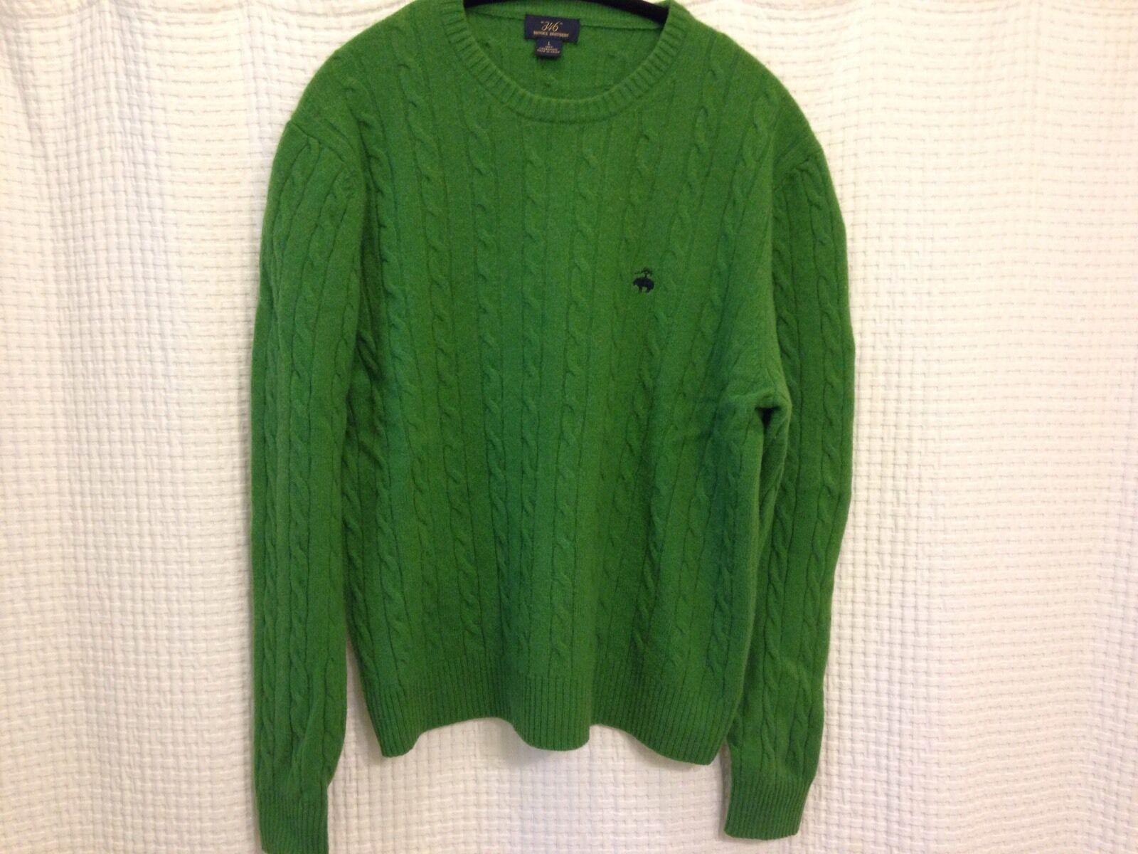 Brooks Bredhers 346 Green Sweater Size Large100% Lambswool