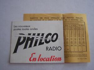 Publicite , Radio Philco + 1 Bareme De Prix Des Postes Philips 1936 . Bon Etat U7boqw5i-08005135-428072044