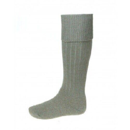 Boys Lomond Kilt Socks House of Cheviot Kilt Socks Mid Grey 12-2