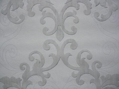 Ornament Vlies Tapete  Rasch 849806  weiß grau
