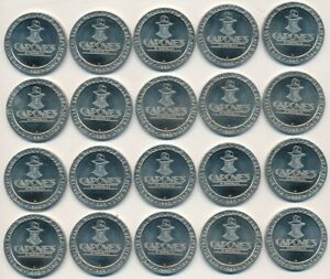 Details about 1993 CAPONE'S CASINO ST  MAARTEN ONE DOLLAR GAMING TOKEN ROLL  (20) VERY NICE!!