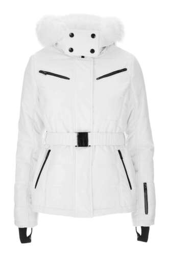 10 Topshop 16 With 14 White Snow Uk Jacket Ski Fur Hood 686AqRwr