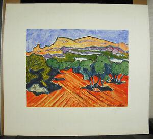 Georges-Marchou-1898-1984-Print-Original-Signed-c1960-37-100-Fauvism