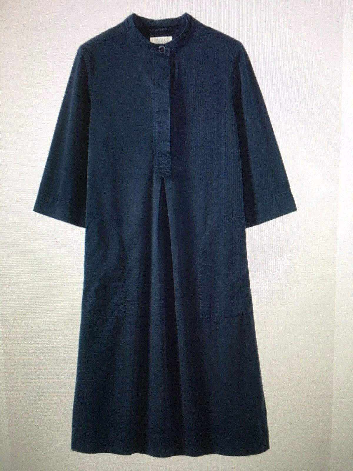 Toast Cotton Twill Tunic Dress Colour Dark Navy Size