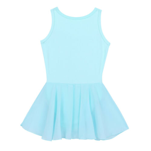 Girls Sequins Ballet Dance Leotard Tutu Dress Ballerina Dancewear Costume UK