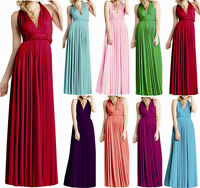 Womens Long Wrap Convertible Bridesmaid Evening Party Ball Prom Gown Maxi Dress