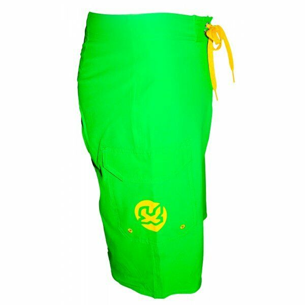 Waxx  Mens Surf Board Shorts in Bright Green