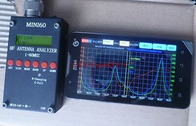 Sark100 HF ANT SWR Antenna Analyzer Meter +Battery+ Bluetooth Android Software