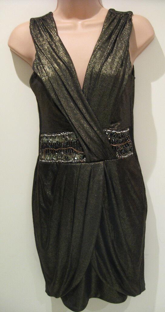 Jane Norman Khaki shimmering Dress (NEW) size 12-.00