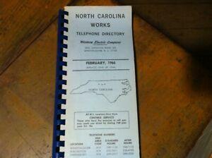 WESTERN-ELECTRIC-1966-TELEPHONE-DIRECTORY-NORTH-CAROLINA-20-227