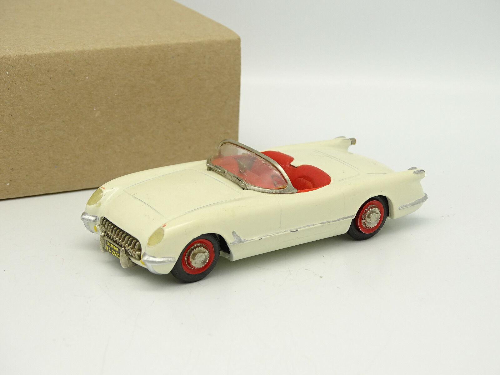 Precision Miniature Kit Mounted Metal 1 43 - 1953 Chevrolet Corvette